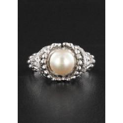 Bague Perle & Diamant