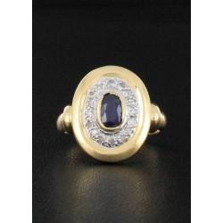 Bague Saphir & Diamant